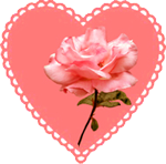 love hear with rose for Valentines Day