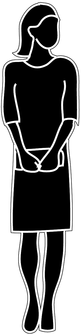 female with handbag silhouette PNG