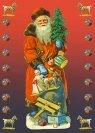 printable Christmas card with Santa