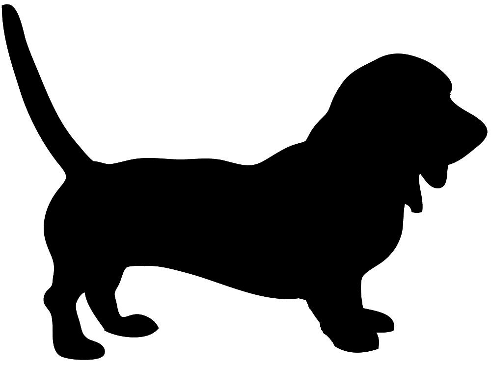 dog silhouette basset hound