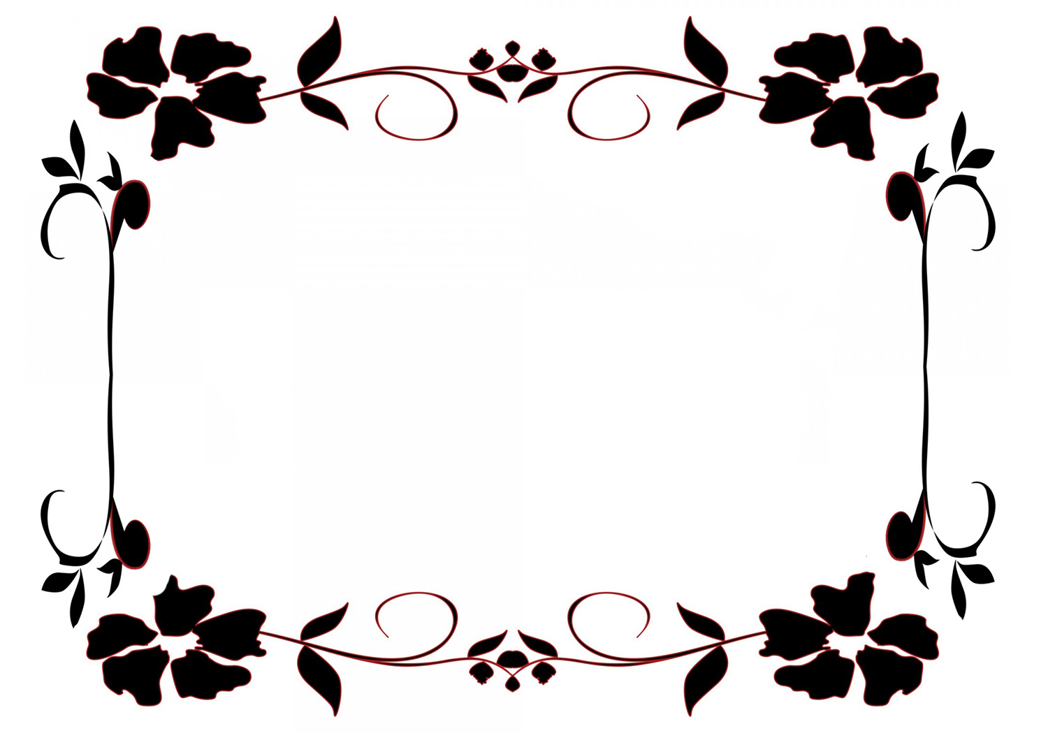Flower borders and frames frame with blue flowers jpeg mightylinksfo