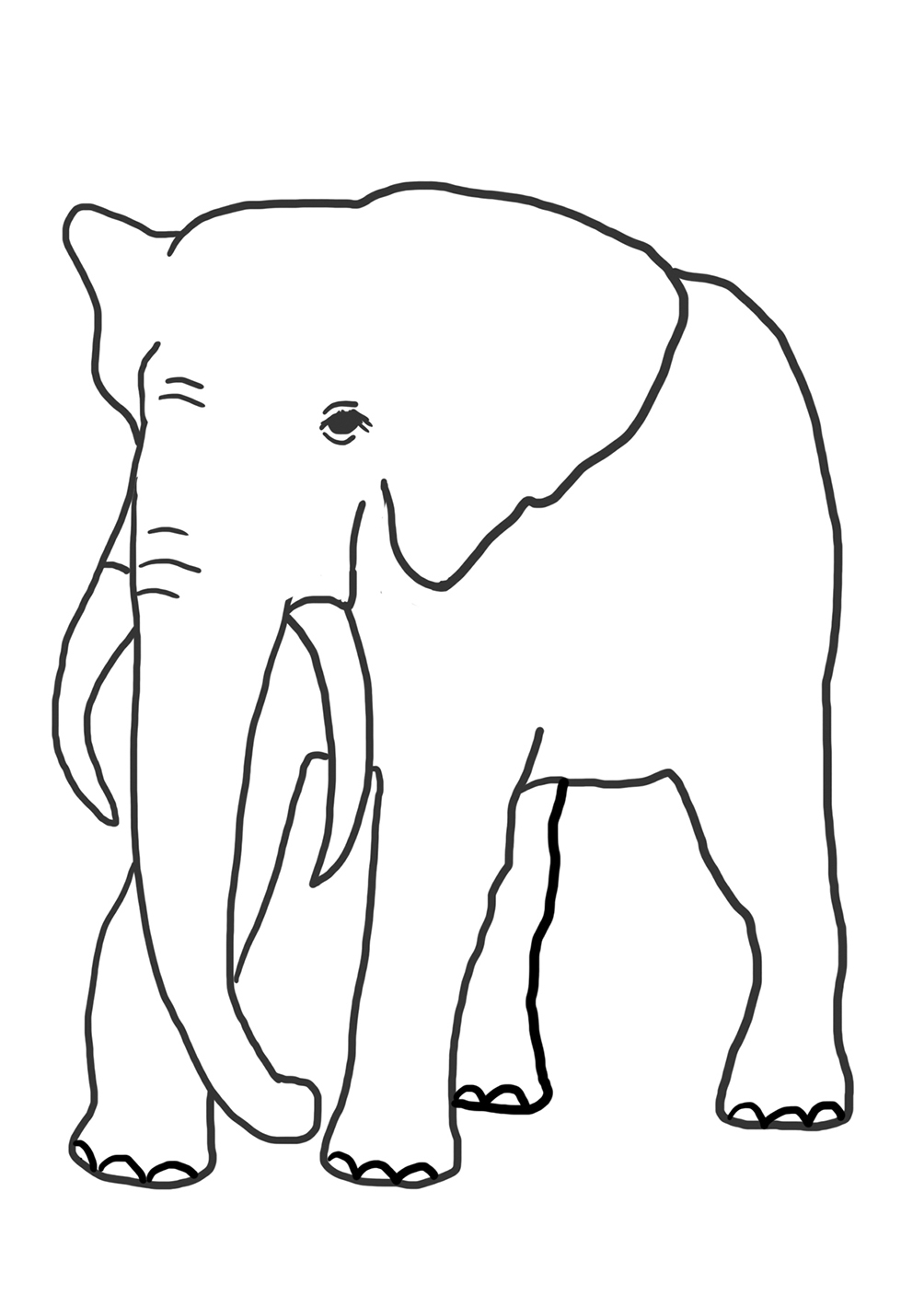 elephant to color