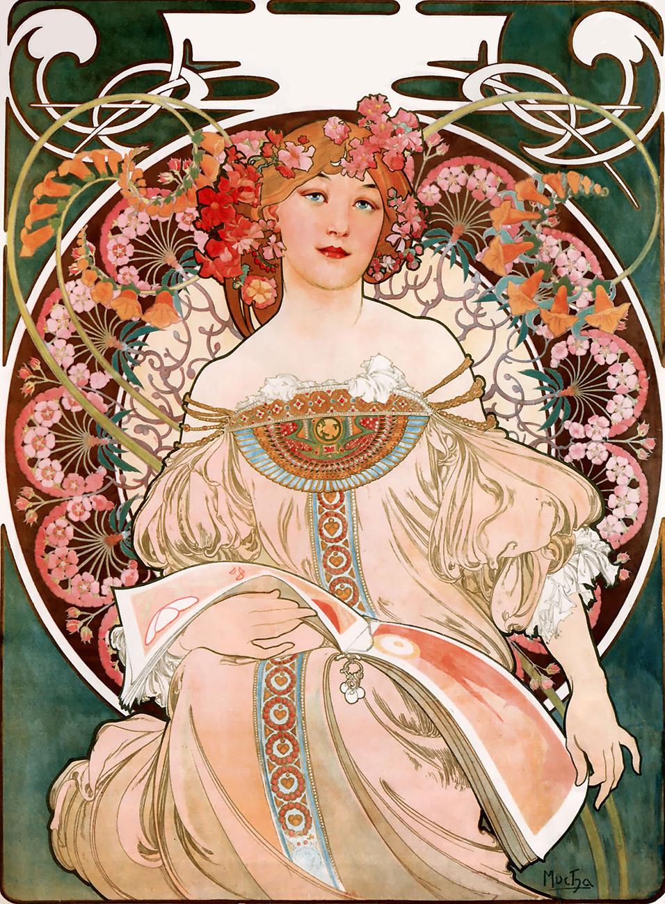 Art Nouveau Mucha picture