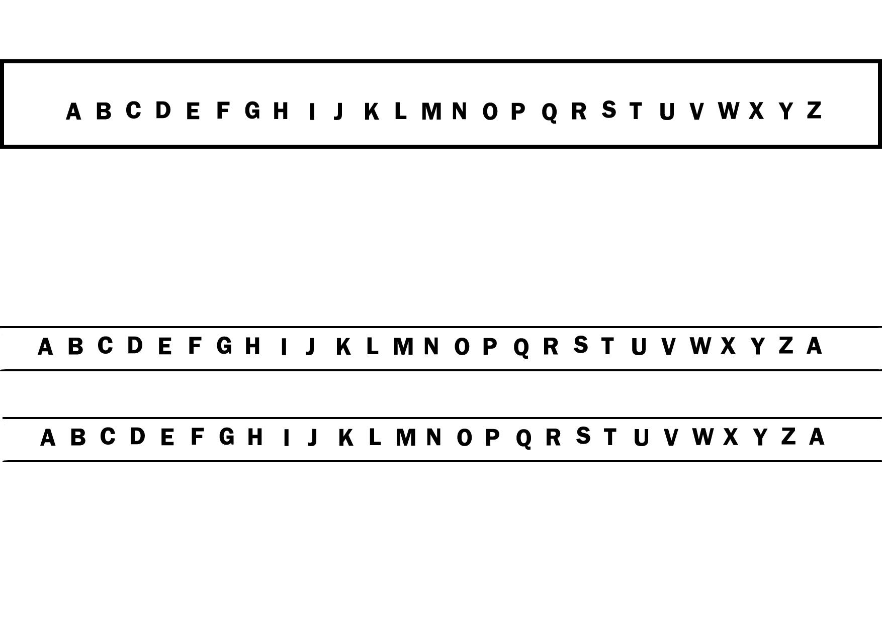 alphabet for code breaker