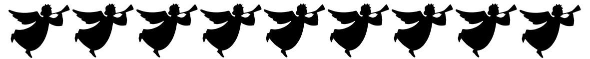 angel silhouettes border
