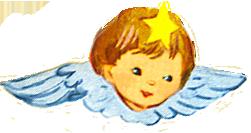 angel head wings