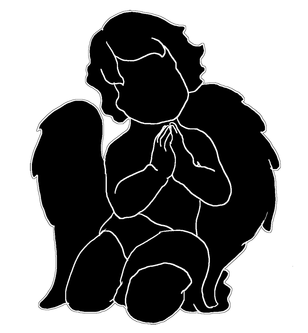 angel silhouettes black angel clipart images black angels clip art free