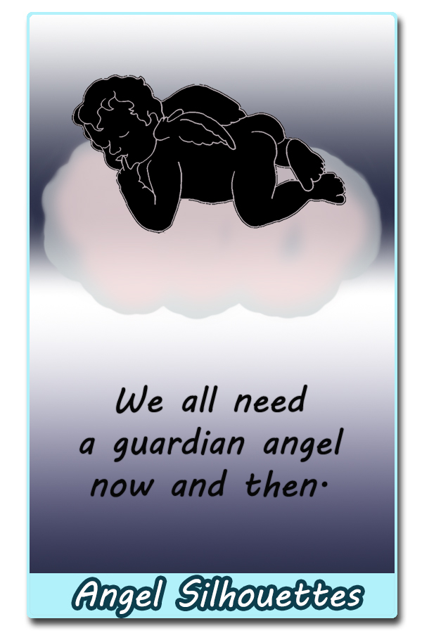 idea for using an angel silhouette