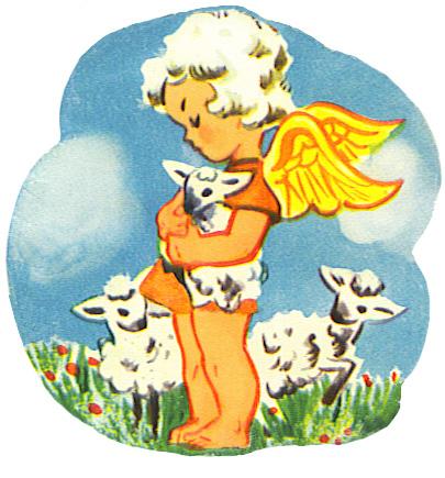 angel with lamb