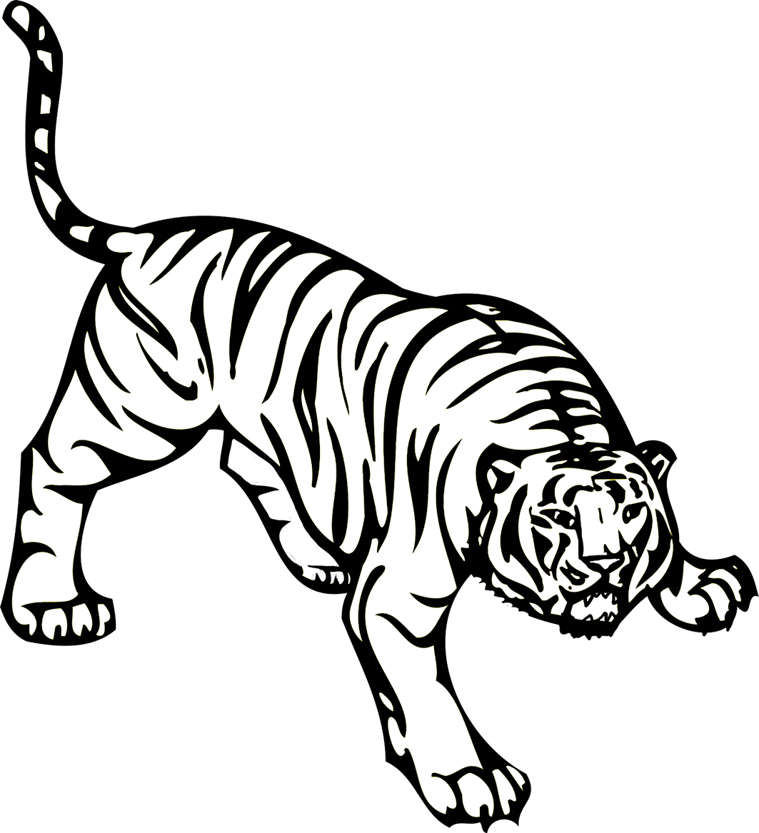 angry tiger attacking image PNG