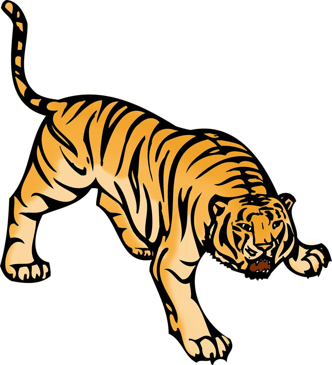 tiger clipart angry tiger