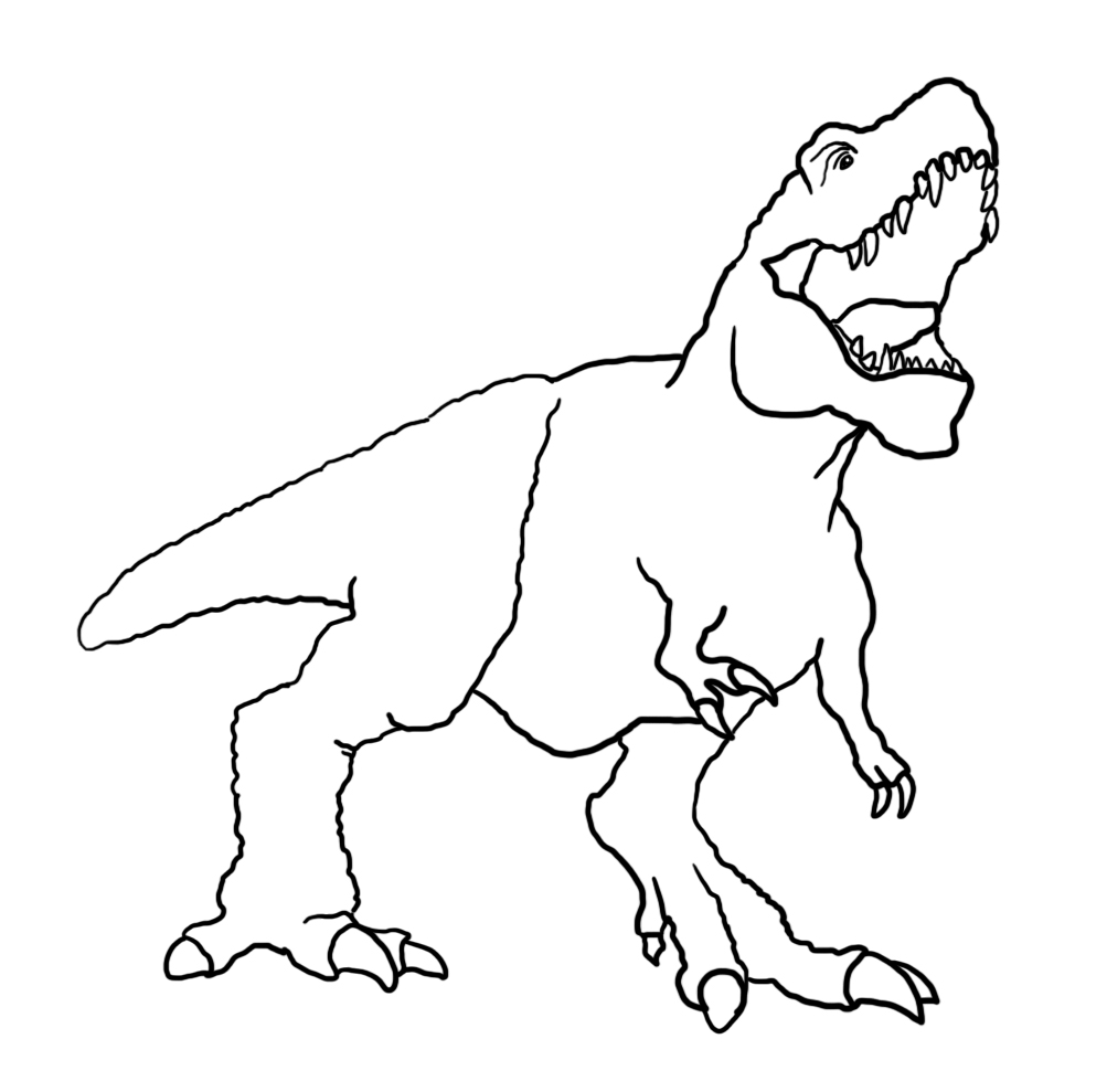 angry Tyrannosaurus rex