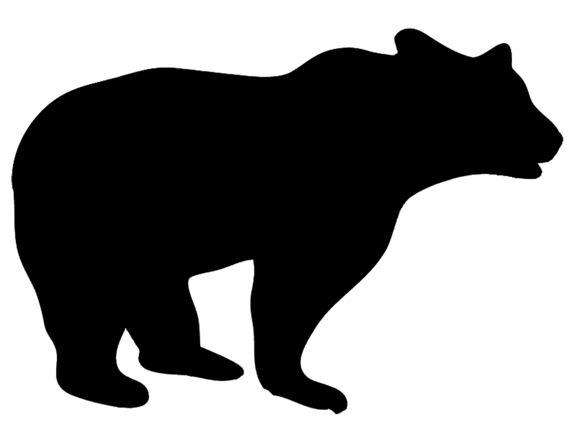 animal silhouette of big bear