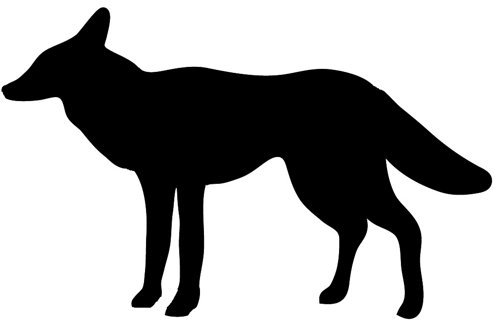 general silhouette of dog