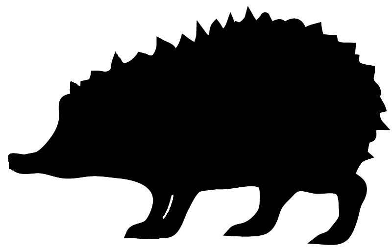 animall silhouette of hedgehog