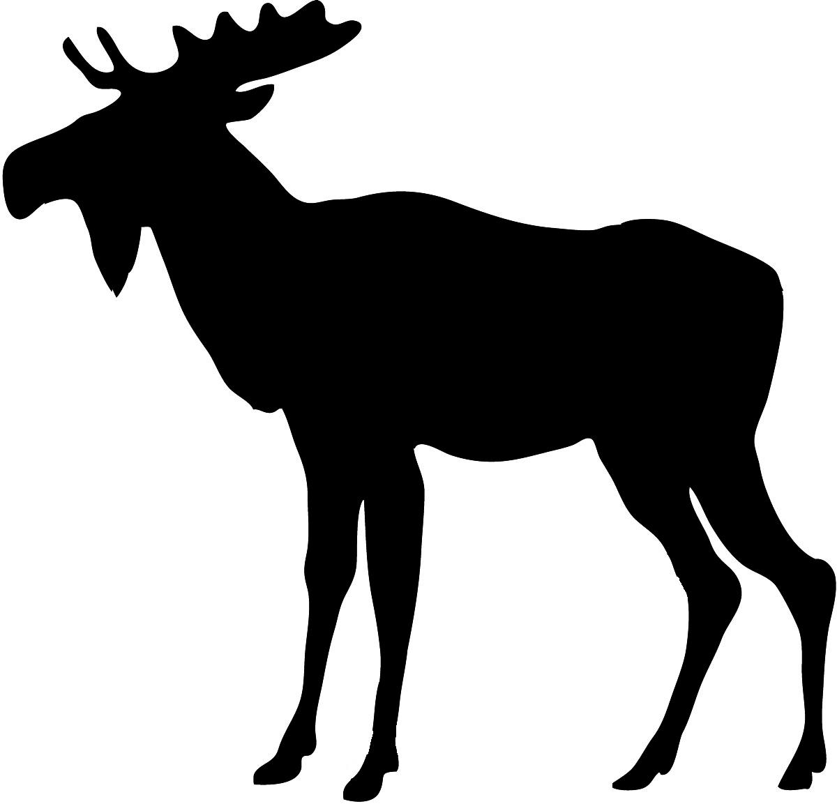 Moose silhouette elk
