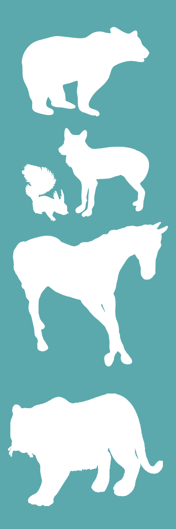 bookmark classic with animals