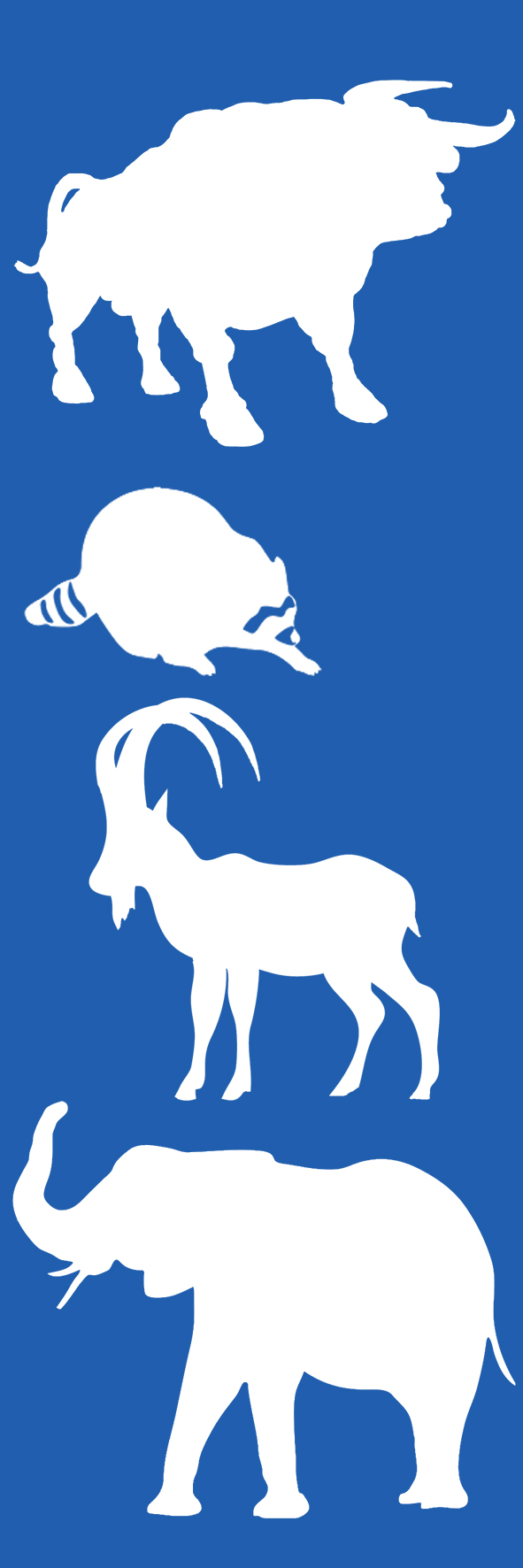 animal bookmark blue