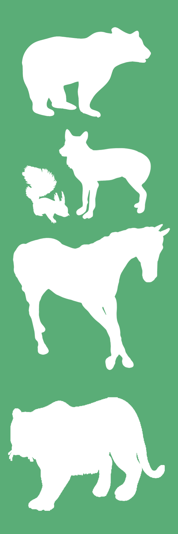 animal bookmark to print
