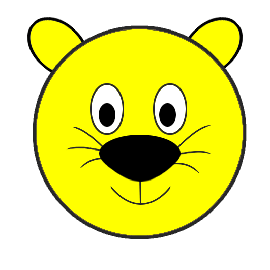 animal smiley face clipart