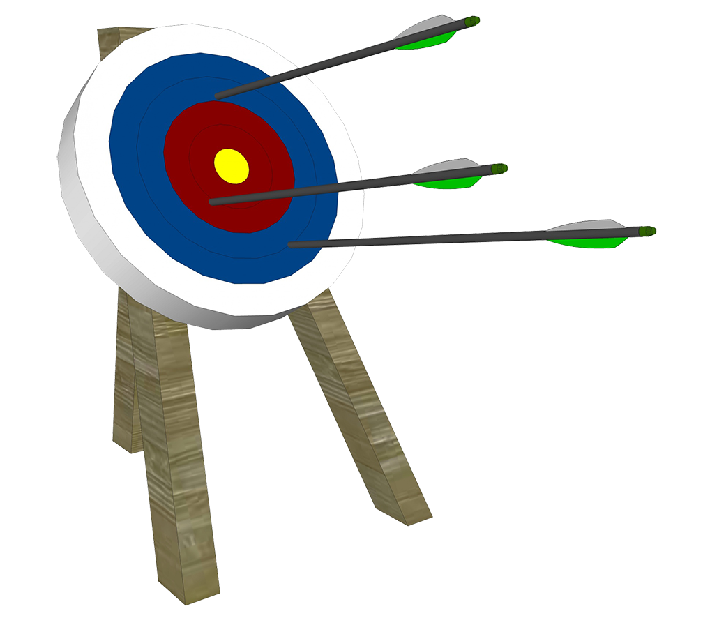 archery and target clipart
