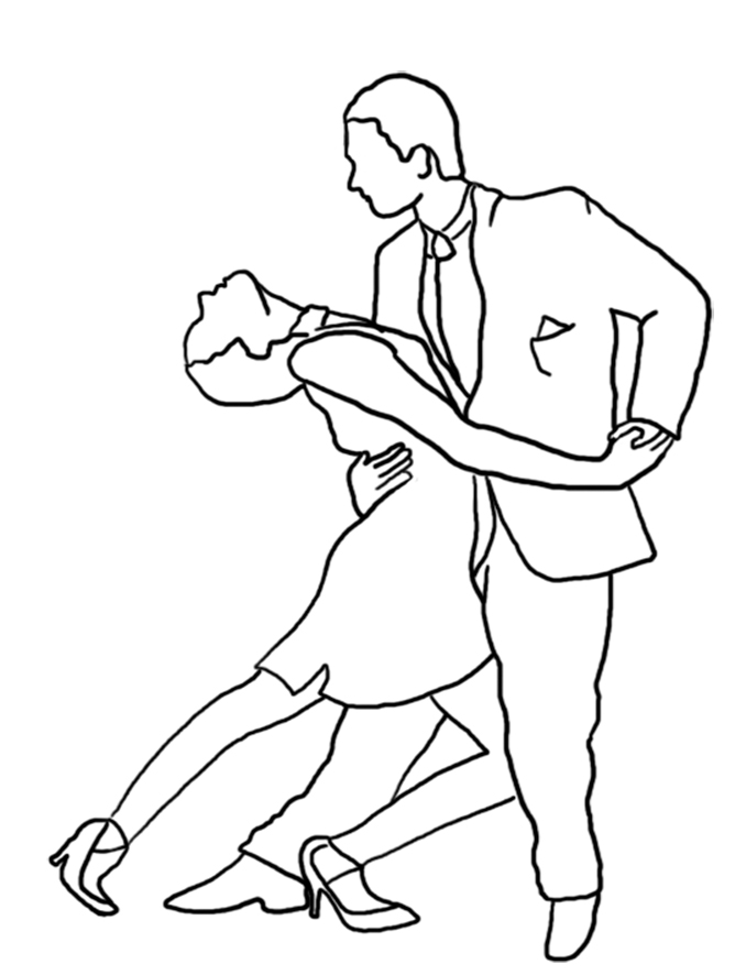 Argentine Tango coloring page
