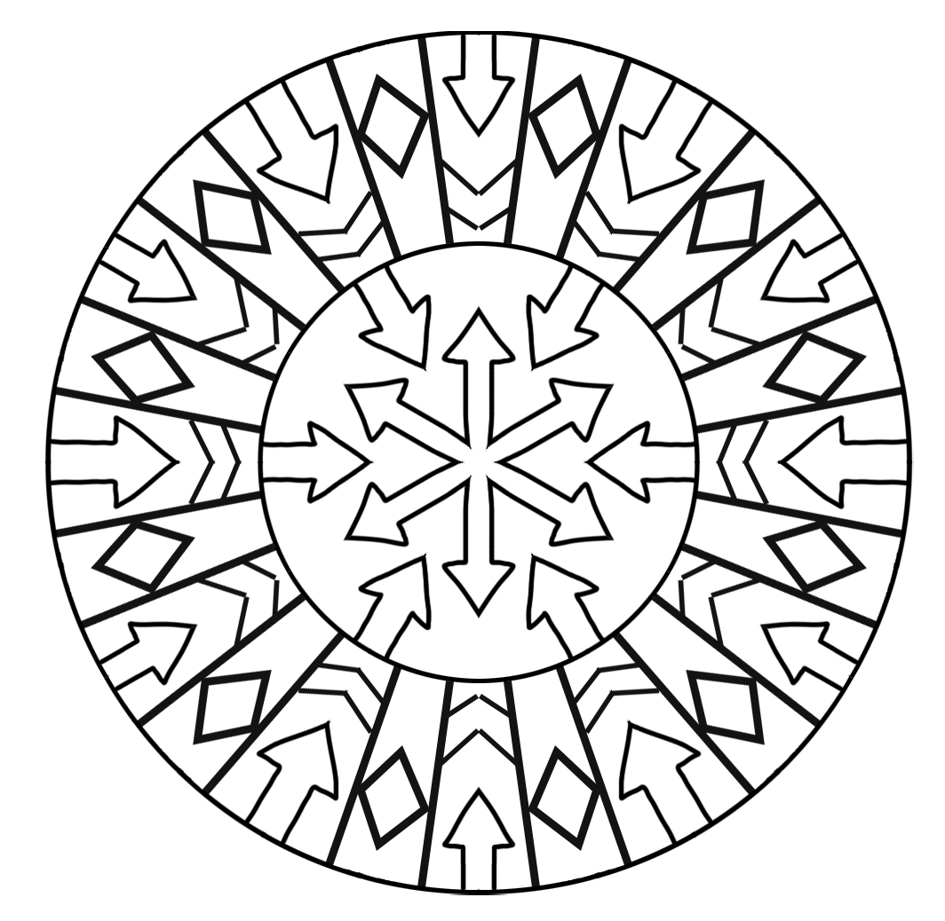 arrow mandala coloring