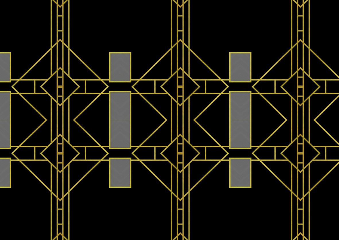 Art Deco background in black