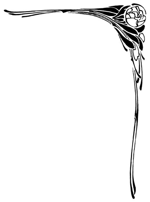 art nouveau corner flower