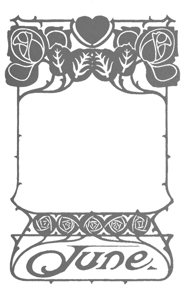 frame for june in jugend style