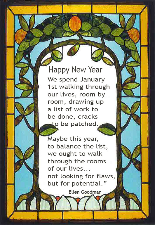 art nouveau New Year card