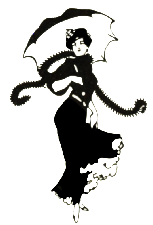 Art Nouveau drawing of woman