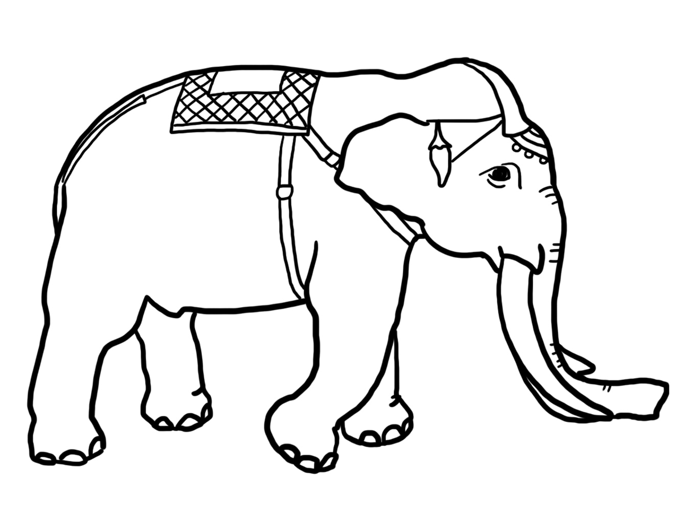 decorative elephant coloring