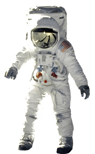 astronaut landed on the moon clip art