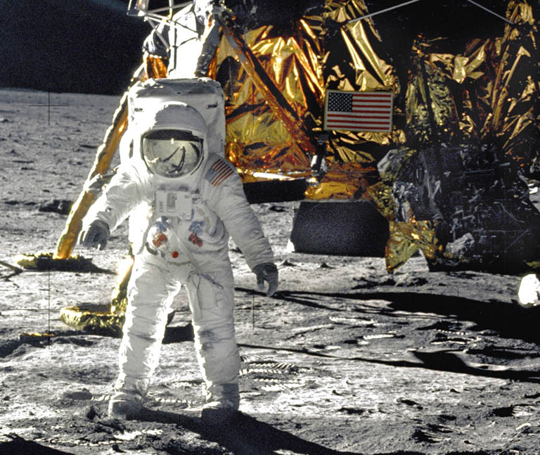 astronaut landed on the moon