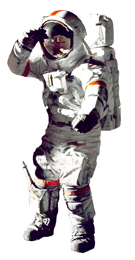 astronaut on the moon clipart