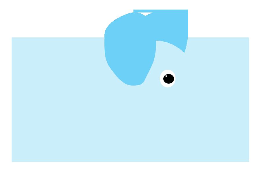 baby blue circle elephant drawing