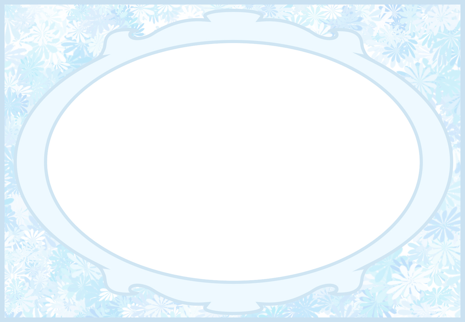 baby blue frame baby card template