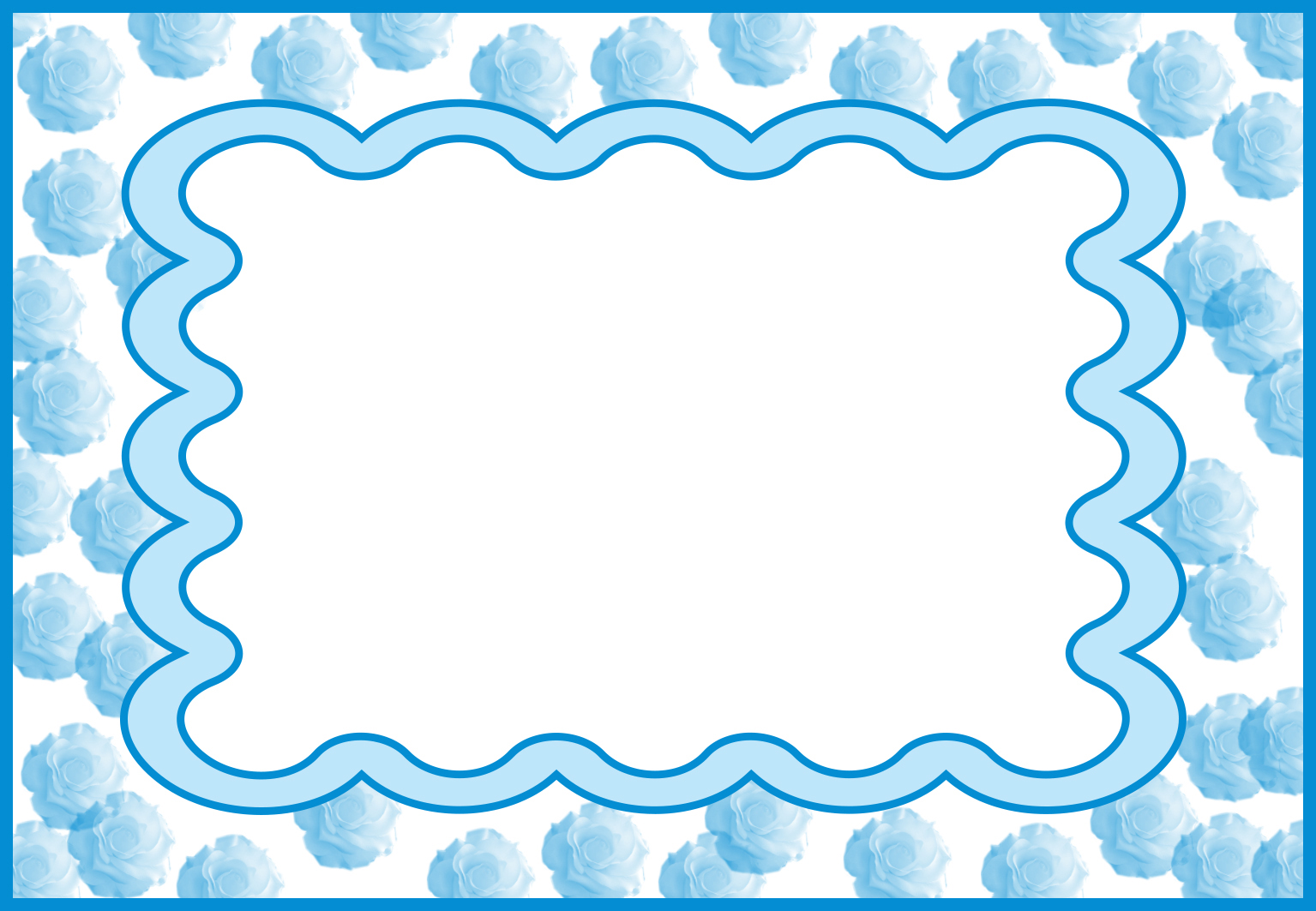 baby card template blue roses