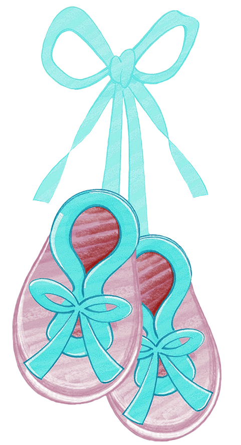 baby booties clipart blue ribbon