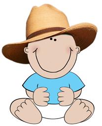 first birthday child cowboy