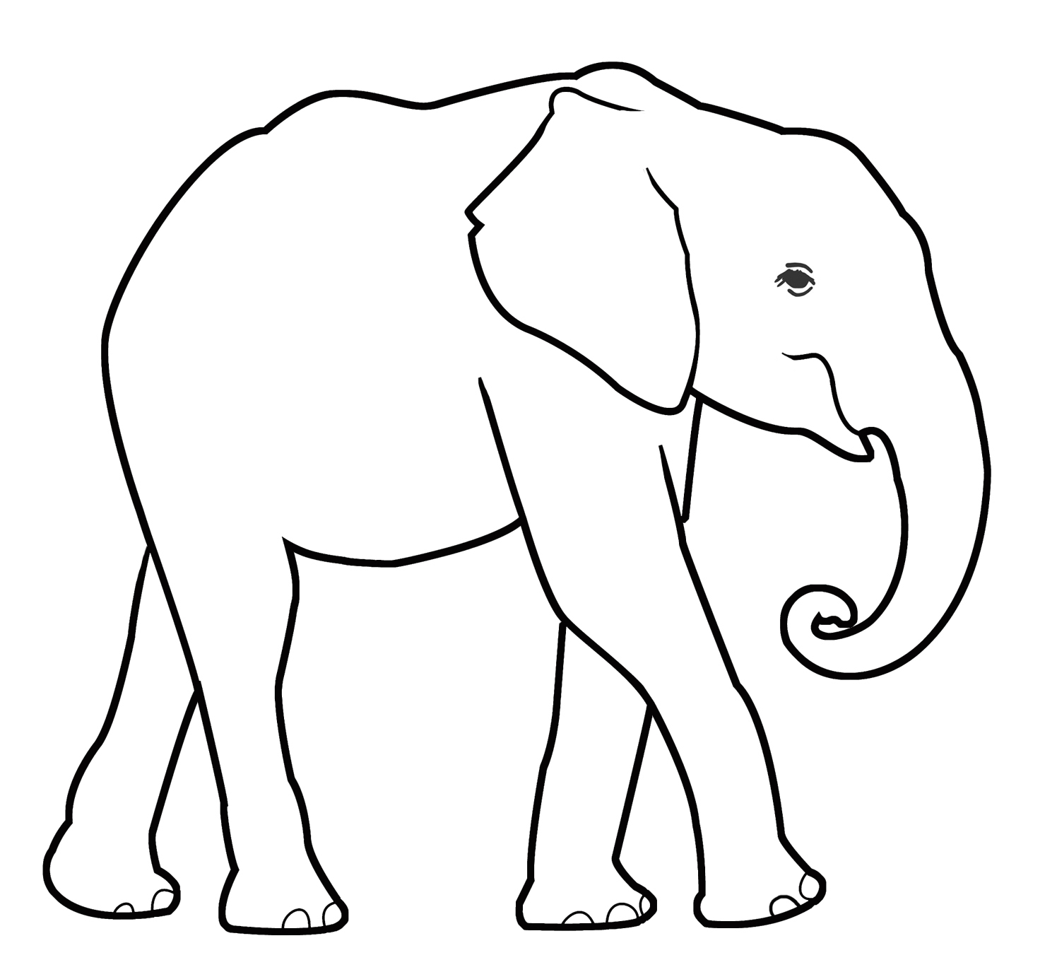 baby elephant outline for coloring
