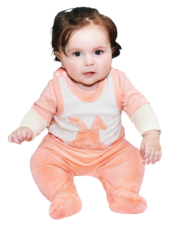 baby girl photo cut-out