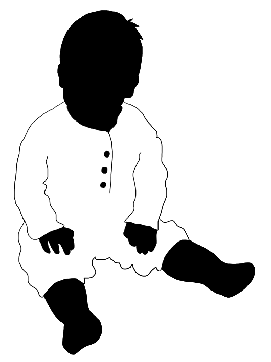 black white silhouette baby