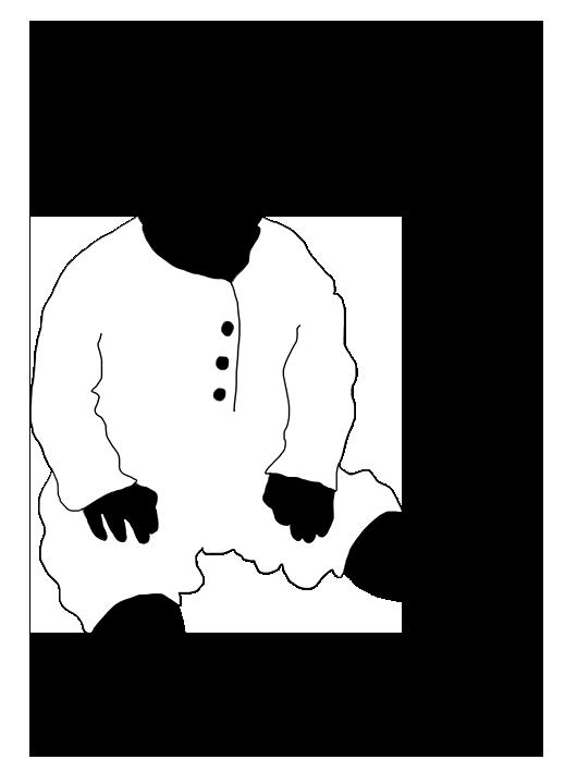 black white silhouette baby
