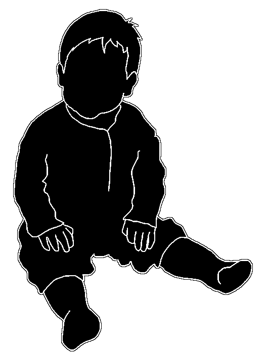 cute baby silhouette