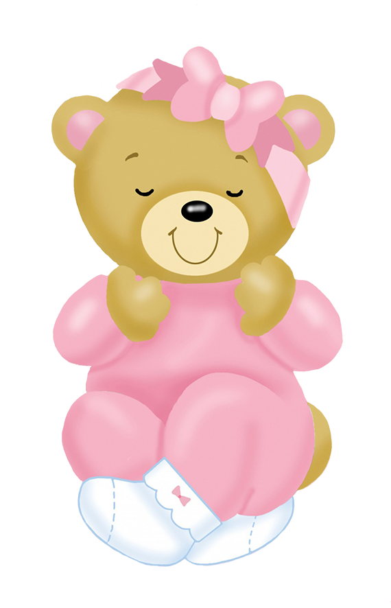 baby teddy bear pink