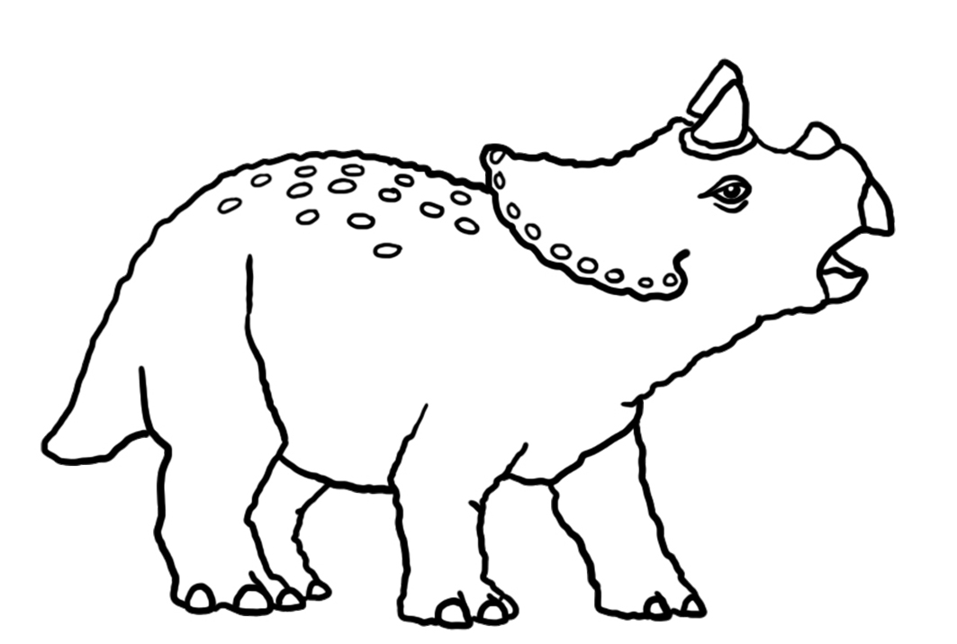 baby triceraptor coloring page