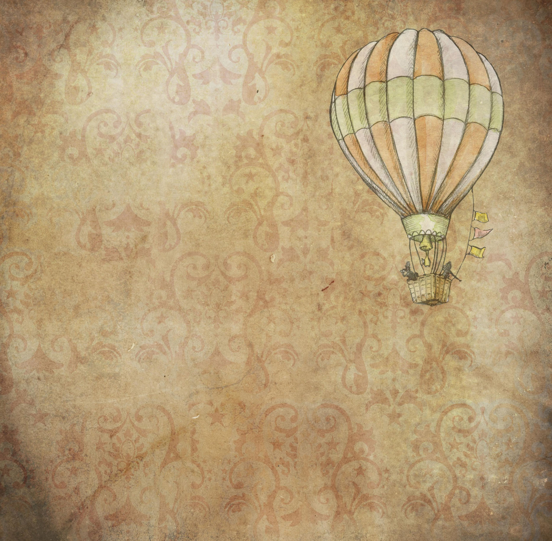 vintage background with balloon