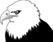 Head of bald eagle clip art
